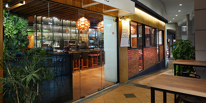 Exterior of Trattoria Pizzeria Logic at Craig Place in Tanjong Pagar, Singapore