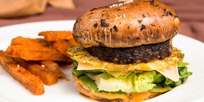 Portobello Burger from Wholesome Savour at Palais Renaissance in Orchard, Singapore
