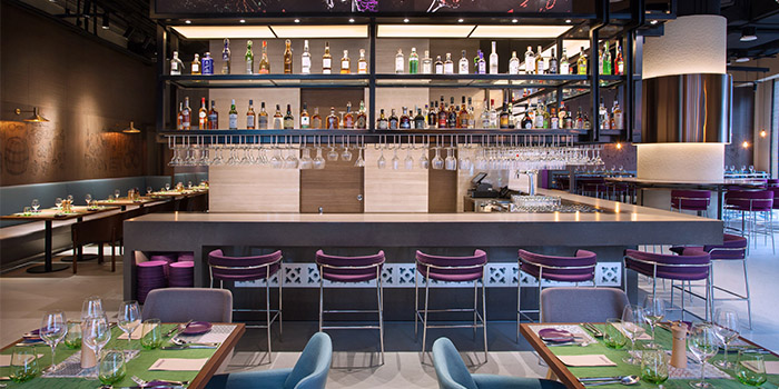 Bar of Winestone at Mercure Singapore on Stevens in Tanglin, Singapore
