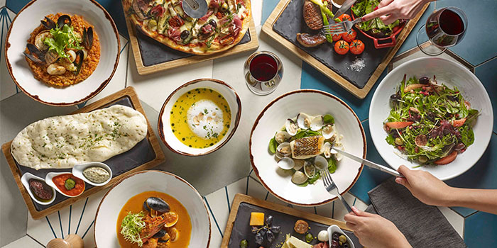 Food Spread from Winestone at Mercure Singapore on Stevens in Tanglin, Singapore