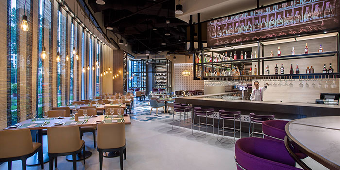 Interior of Winestone at Mercure Singapore on Stevens in Tanglin, Singapore