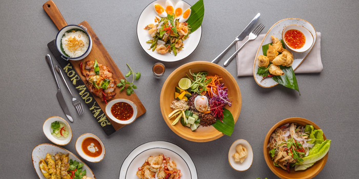 Selection of Food from Siam Soul Cafe at Akyra TAS Sukhumvit Hotel Bangkok 7 Sukhumvit 20 Alley Khlong Toei Bangkok