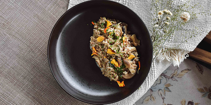 Spelt Risotto from Summerhouse in Seletar, Singapore