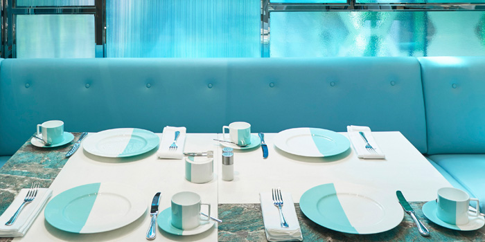 Table Setting, The Tiffany Blue Box Cafe, Tsim Sha Tsui, Hong Kong