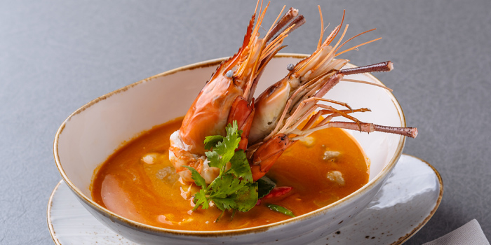 Tom-Yum-Koong from Siam Soul Cafe at Akyra TAS Sukhumvit Hotel Bangkok 7 Sukhumvit 20 Alley Khlong Toei Bangkok