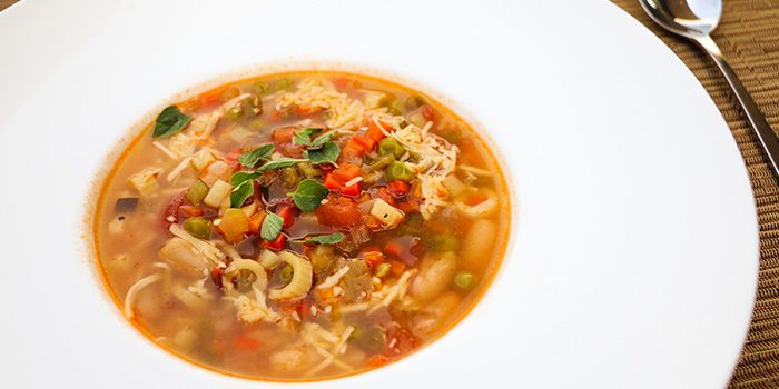 Vegetables Soup With Penne Pasta And Ham, Prompt, Cyberport, Hong Kong