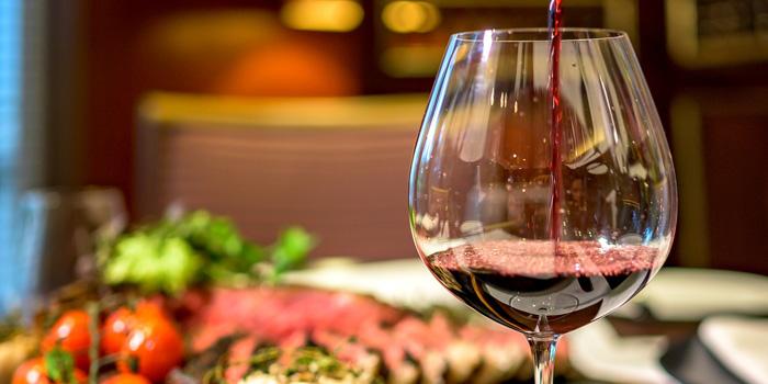 Wine at Sriwijaya Restaurant, The Dharmawangsa Hotel