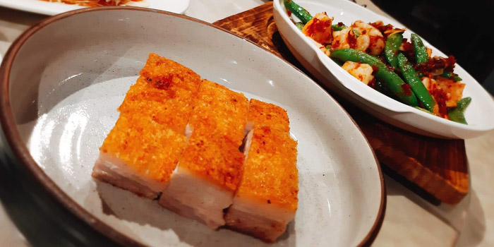 Crispy Pork Belly from Chef Pom Kitchen at 209/5 Charoen Nakorn Samre, Thon Buri Bangkok