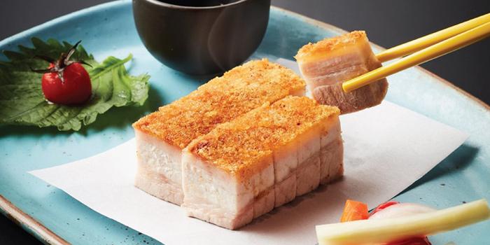 Crispy Pork Belly from Chef Pom Chinese Cuisine by Todd at 662/52 Rama III Rd Bang Phong Phang, Yan Nawa Bangkok