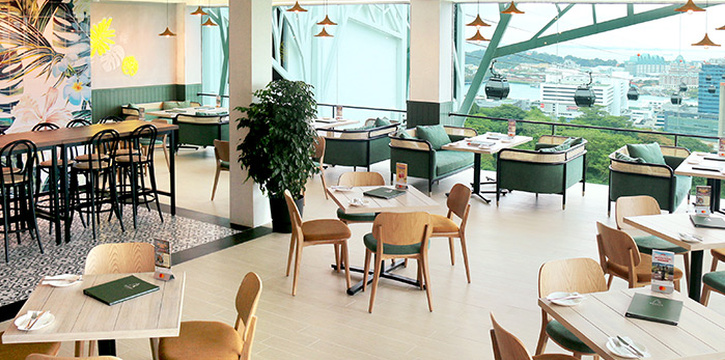 Interior of Arbora (formerly Spuds & Aprons) at Faber Peak Singapore in Harbourfront, Singapore