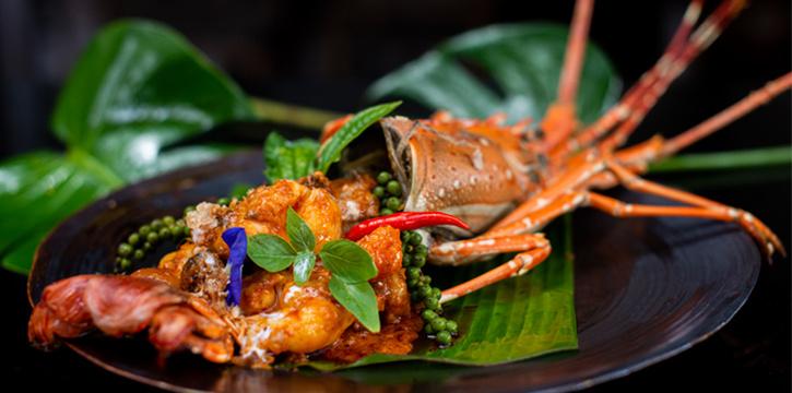 Lobster of Dee Plee in Layan, Phuket, Thailand