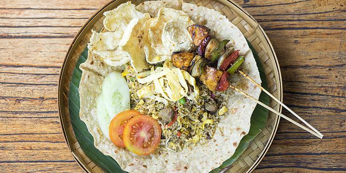 Food from Gabah Restaurant, Kuta, Bali
