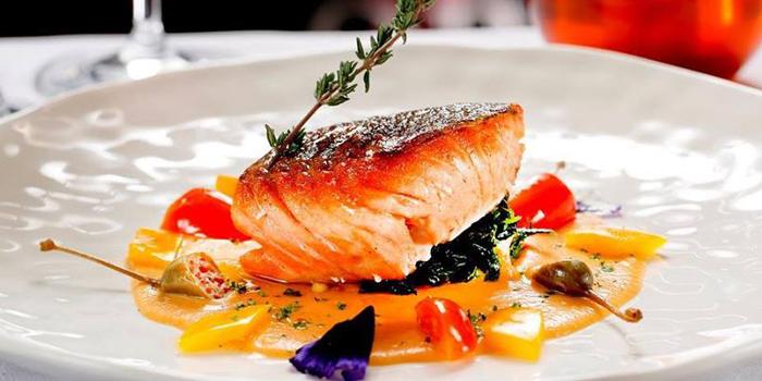 Grilled Salmon from Opus Wine Bar at 64 Pan Road, Silom, Bangrak Bangkok