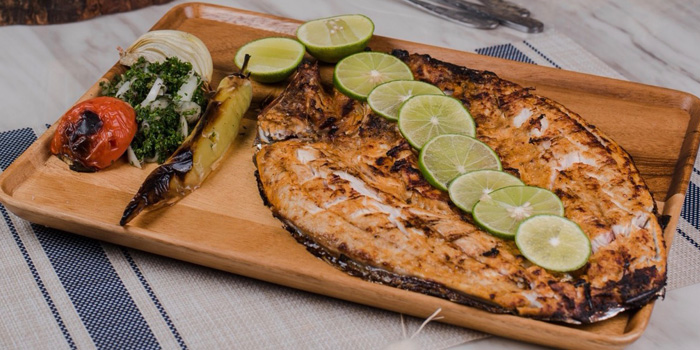 Grilled Whole Fish from Lebanese House Restaurant at 14 Soi Sukhumvit 11 Khlong Toei Nuea, Watthana Bangkok