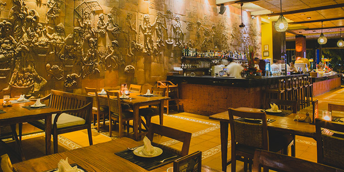 Interior from Gabah Restaurant, Kuta, Bali