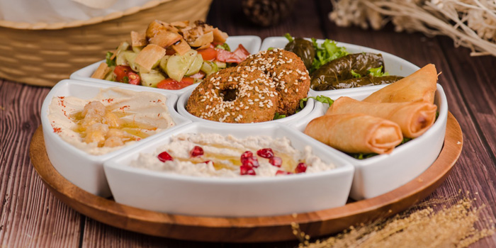 Mixed Appetizer from Lebanese House Restaurant at 14 Soi Sukhumvit 11 Khlong Toei Nuea, Watthana Bangkok