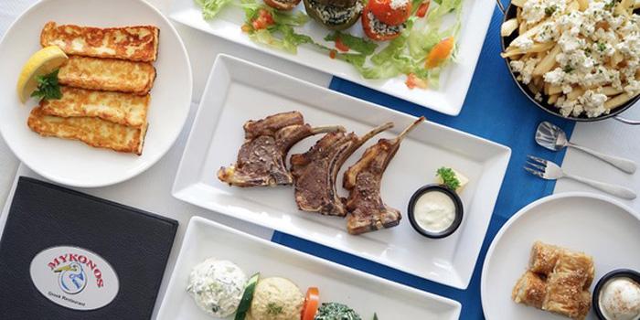 Dish 1 at Mykonos Greek Restaurant, Seminyak