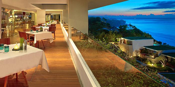 Interior from 360 Roof Top Restaurant, Uluwatu, Bali