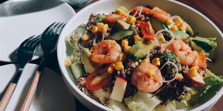 Shrimp Salad, Jie Genge, Mong Kok, Hong Kong