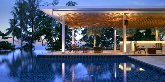 Atmosphere of The Pool Bar in Kamala, Phuket, Thailand