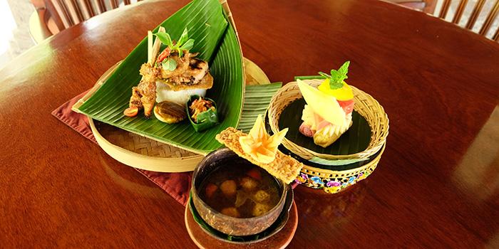 Food from Boga Mandala Restaurant, Ubud, Bali
