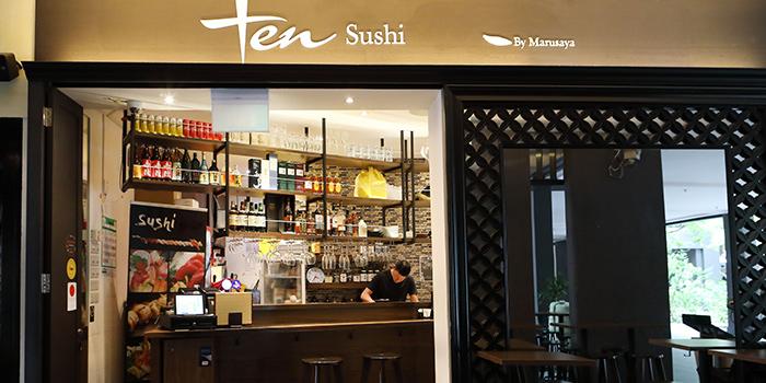 Bar Seating from TEN Sushi in Robertson Quay, Singapore