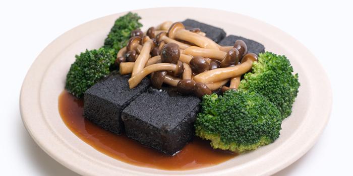 Charcoal Tofu w Fresh Shimeiji Mushrooms from Dian Xiao Er (VivoCity) in Harbourfront, Singapore