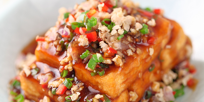 Chef-made Beancurd with Chicken and Salted Fish from The Dim Sum Place in Bugis, Singapore