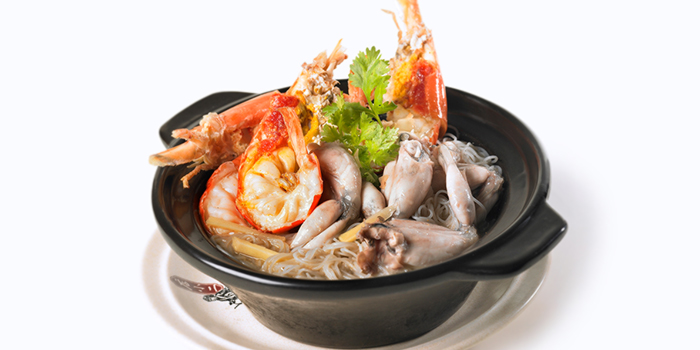 Claypot Frog & Jumbo Prawns Bee Hoon w Chinese Wine from Dian Xiao Er (JEM) in Jurong, Singapore