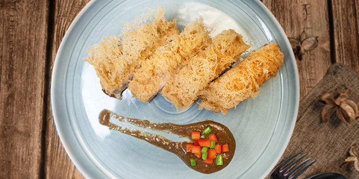 Crispy Fried Yam Duck from Blue Lotus Chinese Eating House in Sentosa, Singapore