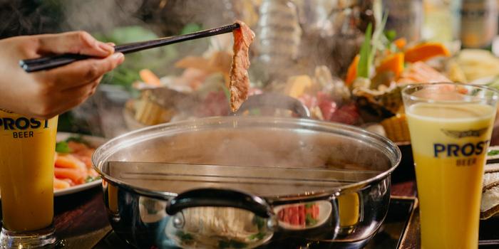 Food from The Street Room Steamboat Restaurant, Kuta, Bali