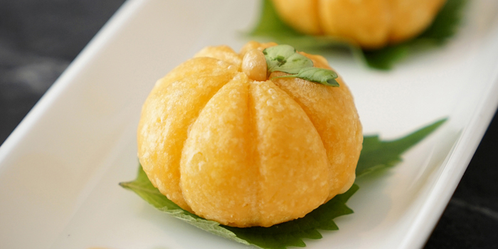 Deep Fried Pumpkin Puff, Celestial Court Chinese Restaurant, Tsim Sha Tsui, Hong Kong