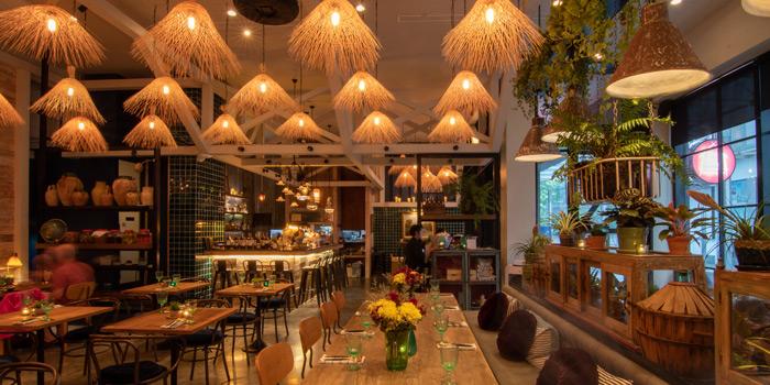 Dining Area of Ginger Farm Eatery & Bar at 39 Boulervard Executive Residence Sukhumvit 39 Klong Tan Nuea, Watthana Bangkok