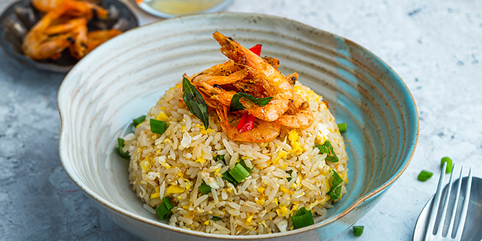 Egg Fried Rice with Crispy Shrimp from Tiger Street Lab at Jewel Changi Airport in Changi, Singapore