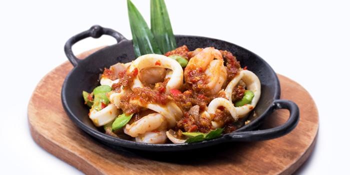 Fiery Sambal Squid w Prawns from Dian Xiao Er (Lot One) in Choa Chu Kang, Singapore
