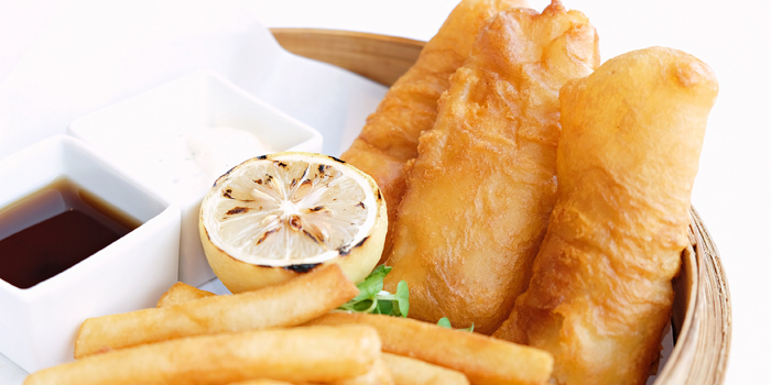 Fish & Chips, The Lounge, Chek Lap Kok, Hong Kong
