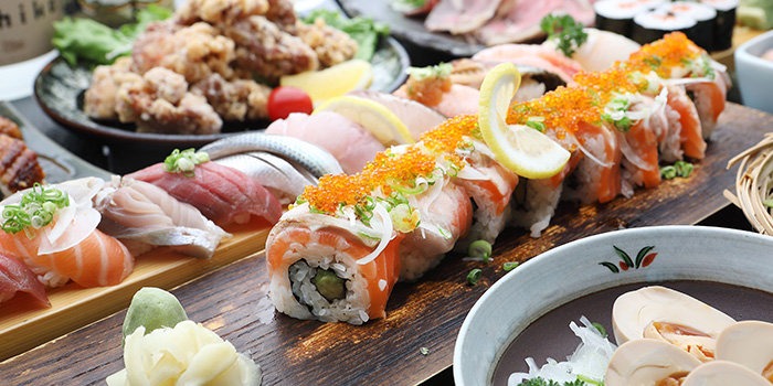 Food Spread from TEN Sushi in Robertson Quay, Singapore