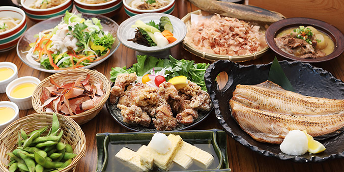 Food Spread from Marusaya in Robertson Quay, Singapore