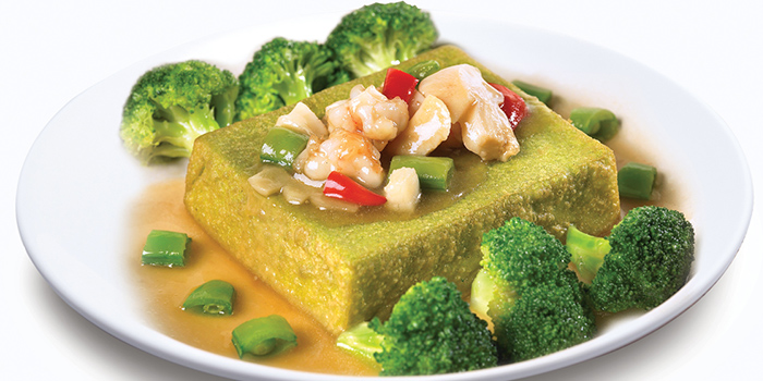 Homemade Wheatgrass Tofu w Seafood from Dian Xiao Er (Marina Square) in City Hall, Singapore