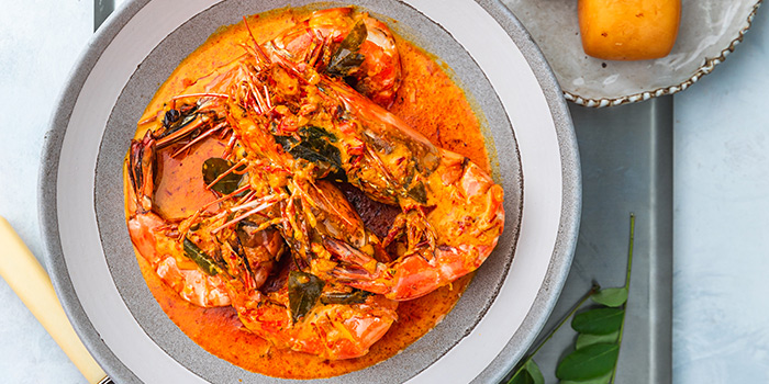 Indo-style Curry King Prawn from Tiger Street Lab at Jewel Changi Airport in Changi, Singapore