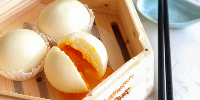 Molten Salted Egg Custard Bun from The Dim Sum Place in Bugis, Singapore