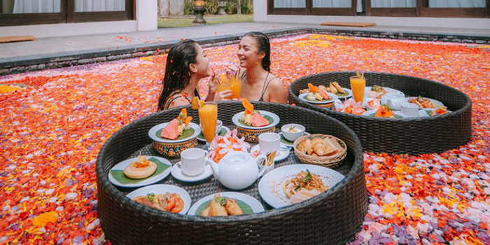 Floating Breakfast from Boga Mandala Restaurant, Gianyar, Bali
