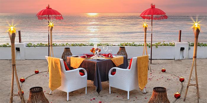 Romantic Dining from La Cucina Restaurant, Kuta, Bali