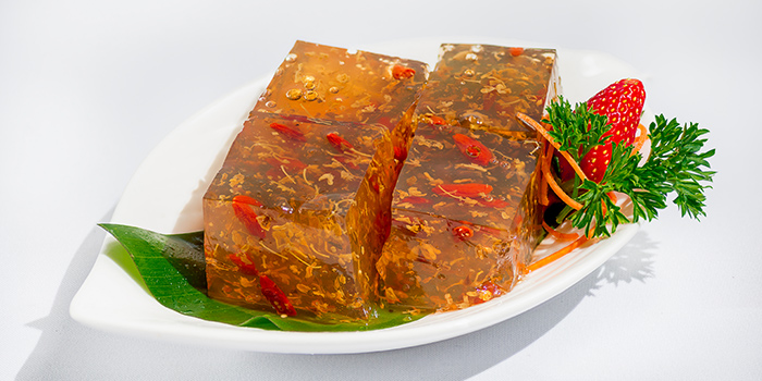 Homemade Osmanthus Jelly from 566 Seafood & Beer Garden At Mandai Hill in Woodlands, Singapore