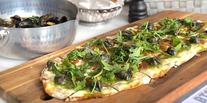 Escargots Tarte Flambée from BTM Mussels & Bar in Duxton, Singapore