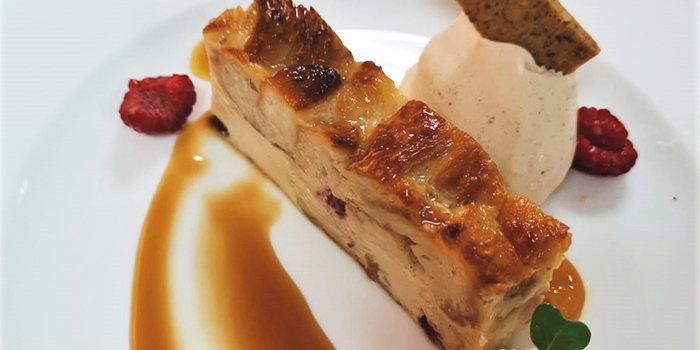 Bread Butter Pudding from Temasek Culinary Academy The Top Table at Temasek Culinary Academy in Tampines, Singapore