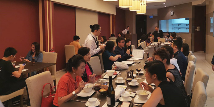 Interior of Temasek Culinary Academy The Top Table at Temasek Culinary Academy in Tampines, Singapore