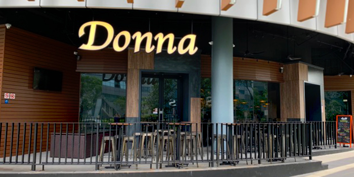 Exterior of Donna Restaurant and Bar in Queenstown, Singapore