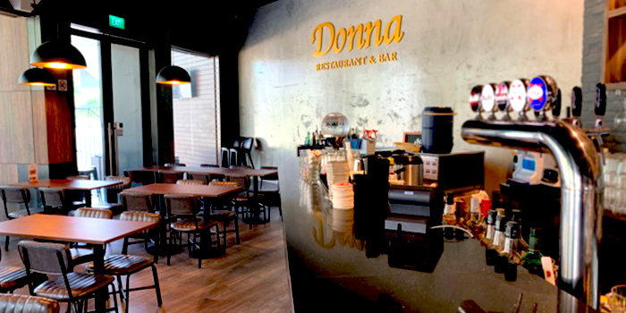 Interior of Donna Restaurant and Bar in Queenstown, Singapore