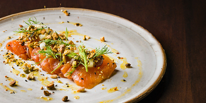 Cured Salmon Crudo from Fat Prince in Tanjong Pagar, Singapore
